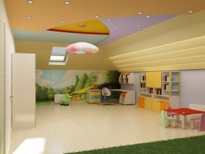 Sketches of interior design a child's room