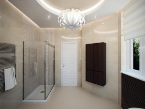 Sketches of interior design bathroom