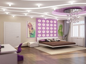 Sketches of interior design of bedrooms