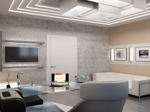 Sketches of interior design office